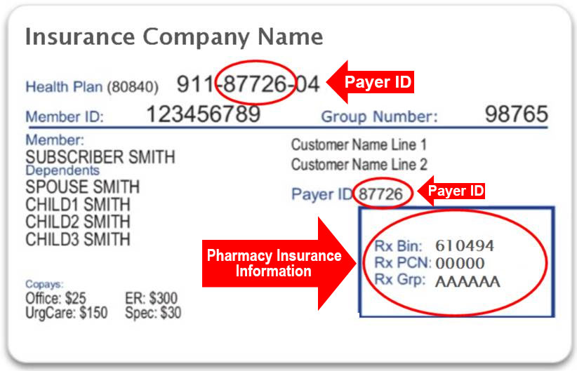 Insurance Card Example